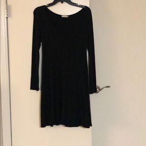 Lush black swing dress